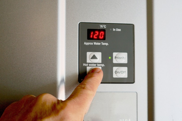 hot water heater control